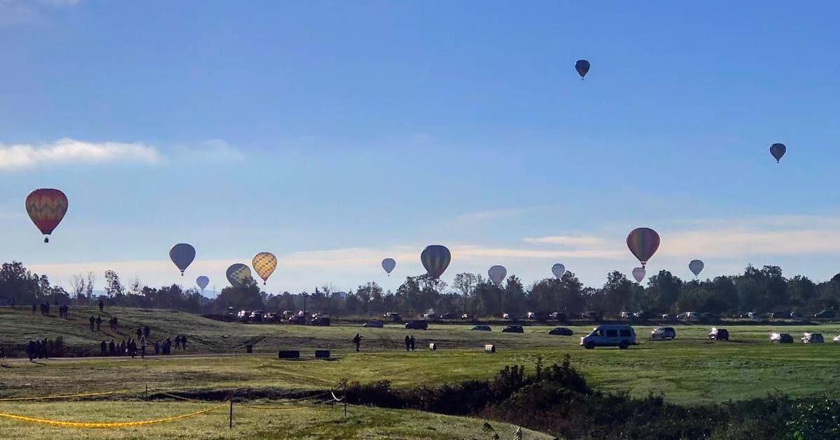 view of balloon launch at festival