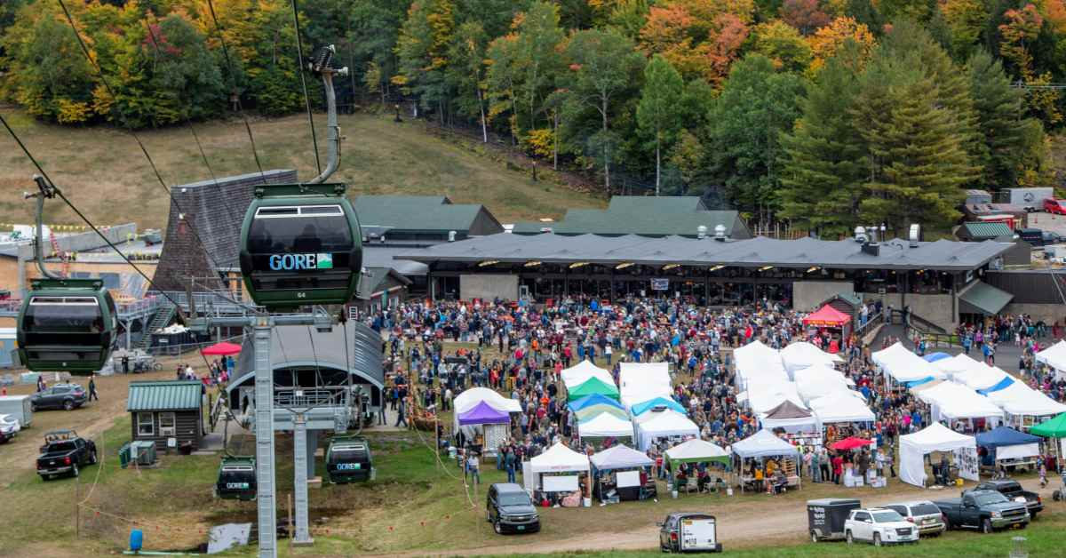 gondola over gore mountain harvest fest