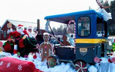 SNC parade float with Santa