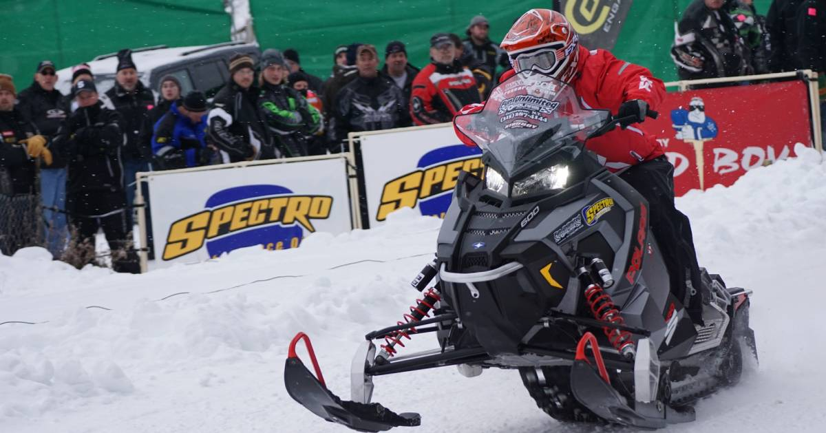 snowmobiler at event