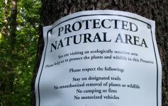 Protected Natural Area sign on tree