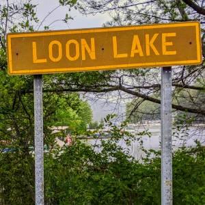 Loon Lake sign