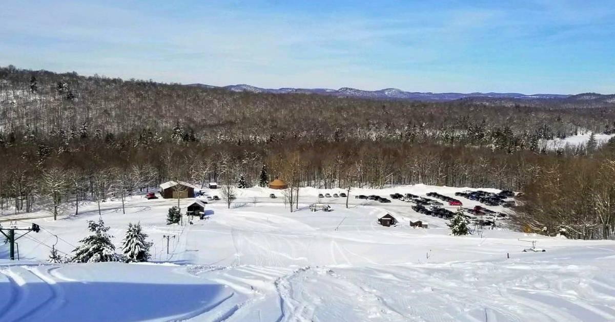 view from ski mountain