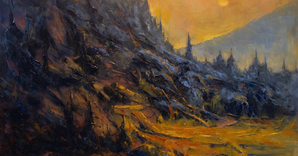 painting of the wilderness