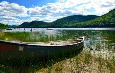 canoe by lake