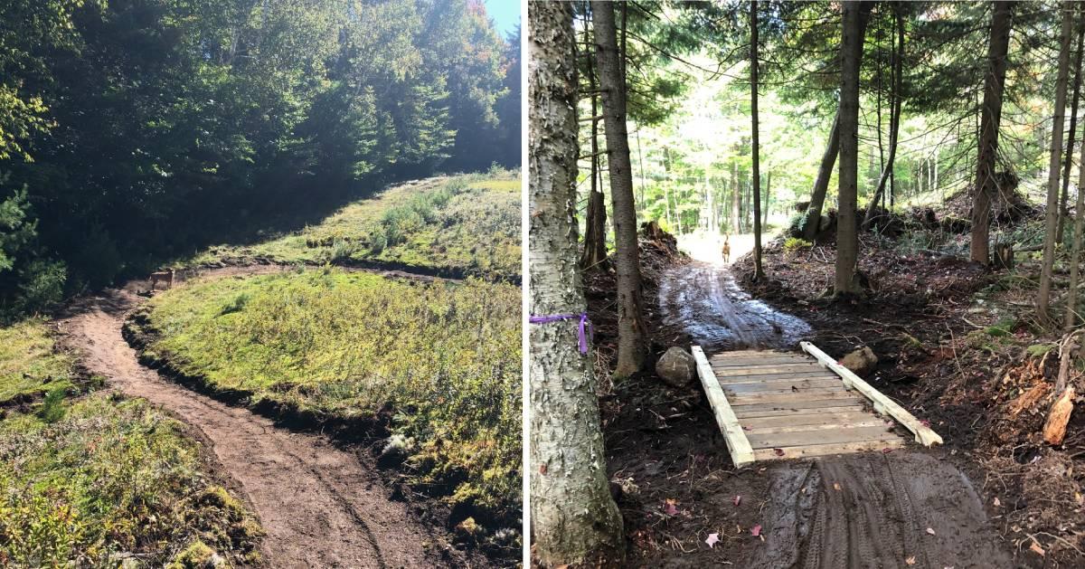 split image of bike trails