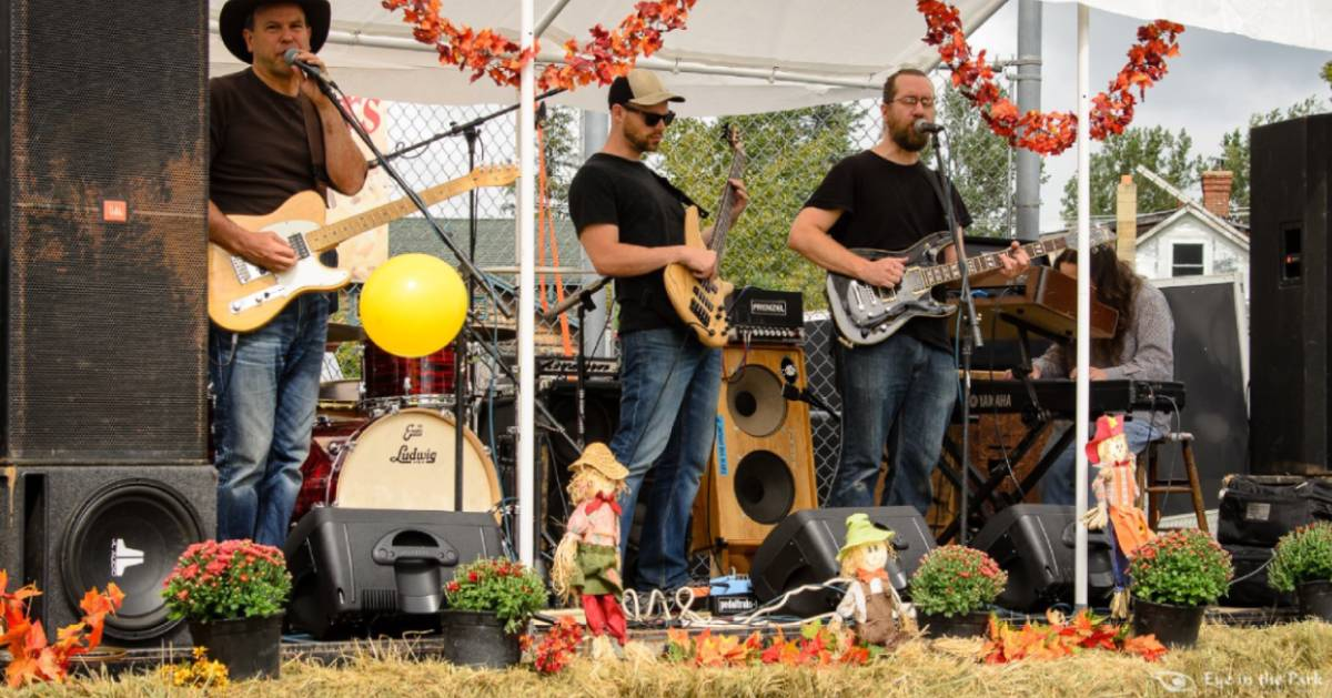 band playing at a fall festival