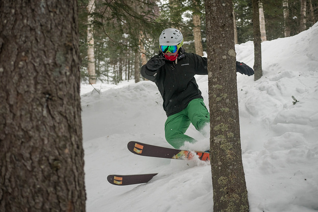 glade skiing at gore mountain in the adirondacks