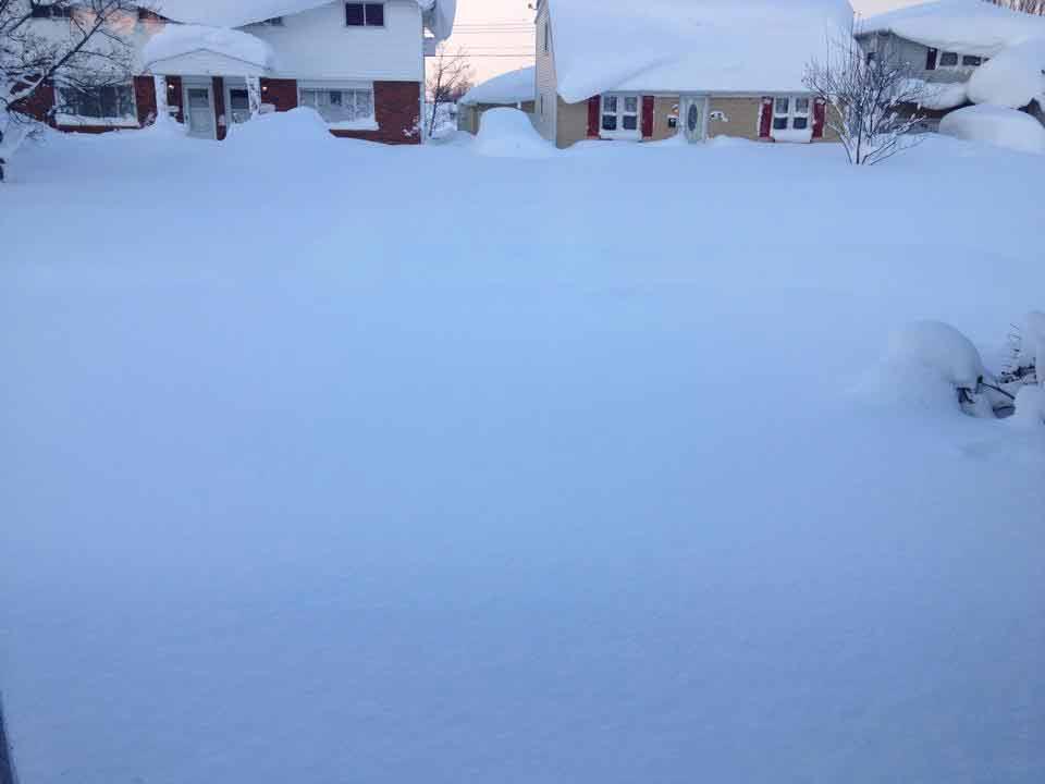snow blanketing a street