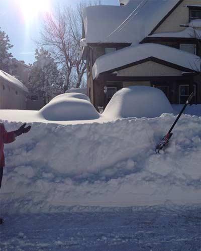 large snow bank